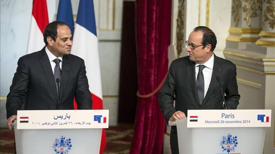 Hollande y Al Sisi piden una reunión del Consejo de Seguridad sobre el EI