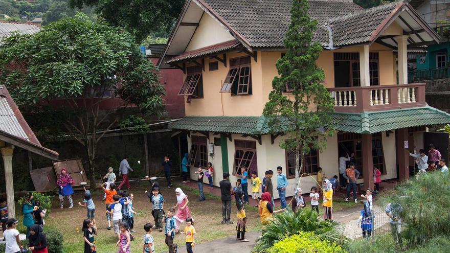El colegio para refugiados de Cisarua.