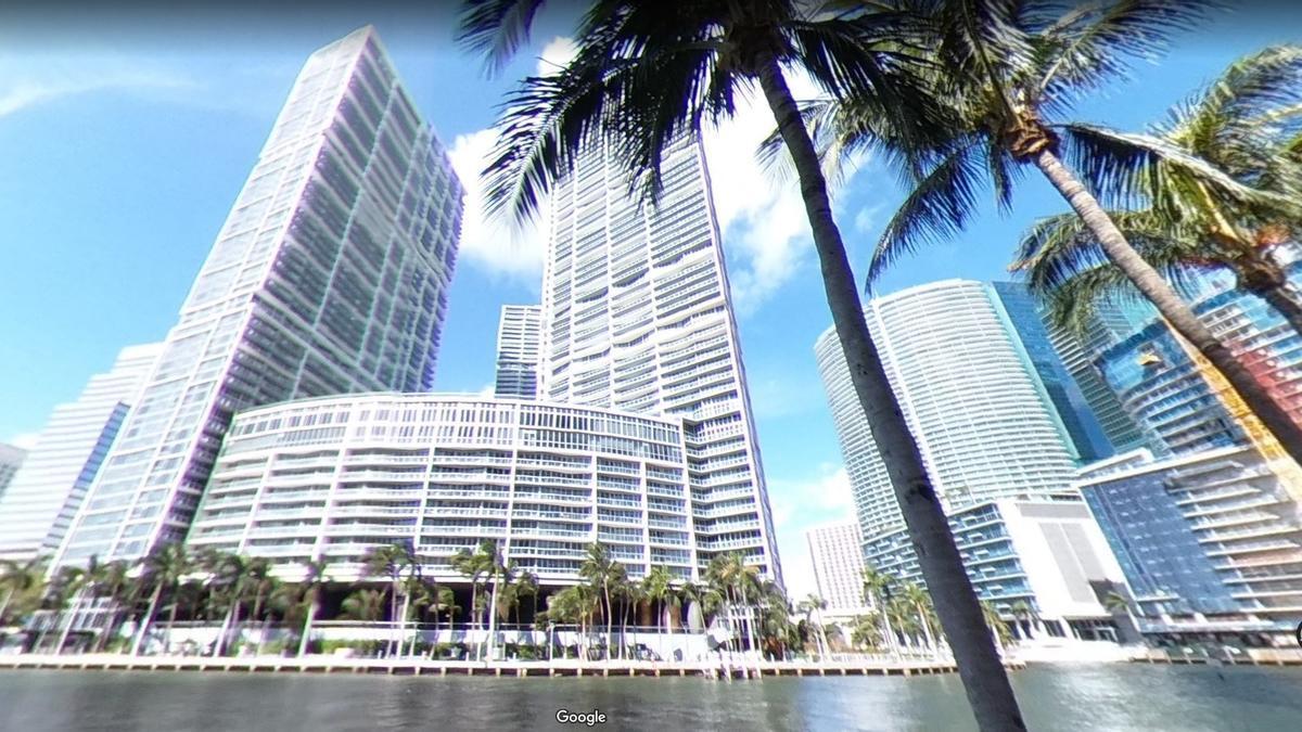 Brickell Avenue, en Miami, donde aguardan dos pisos de Tauroni, condenado en el Caso Cooperación.