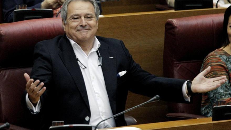 Alfonso Rus, en una sesión de las Corts Valencianes