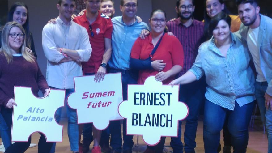 Ernest Blanch, aspirante a la secretaría provincial del PSOE, en el acto de presentación de su candidatura en Castellón.