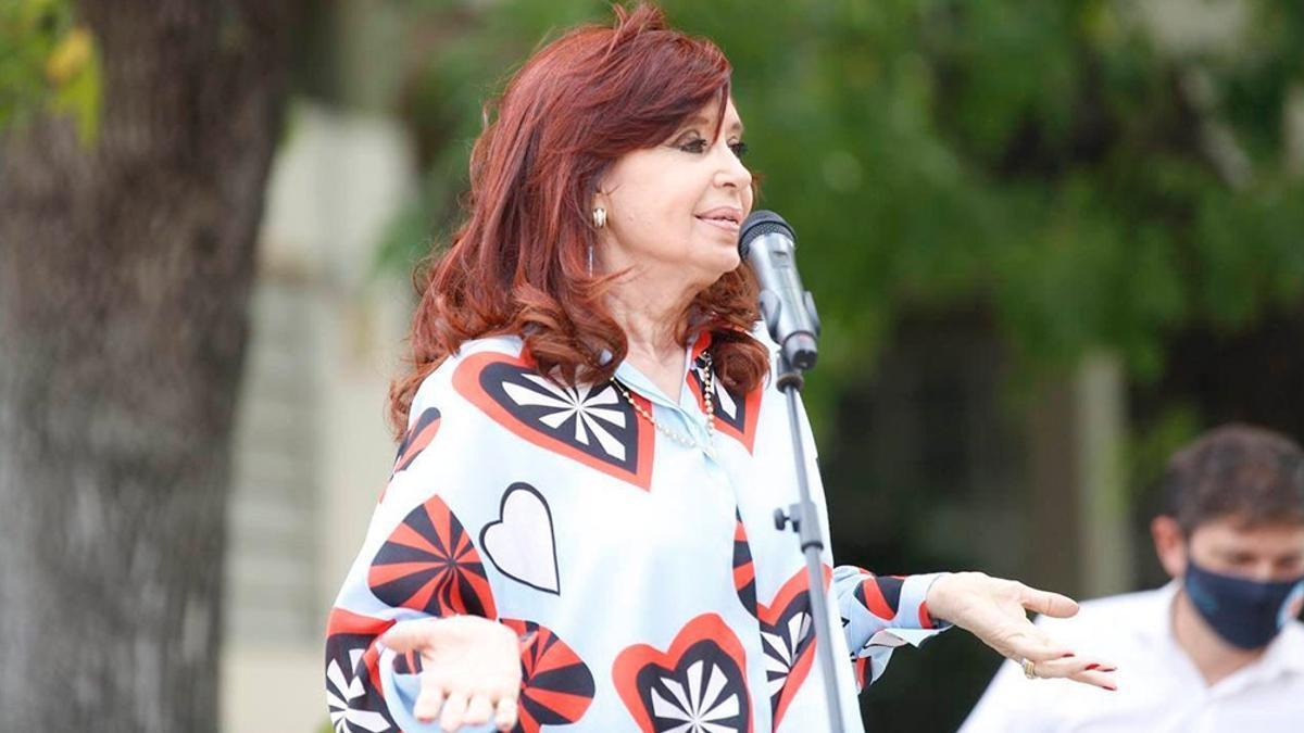 Cristina en una se sus últimas apariciones, marzo 2021.