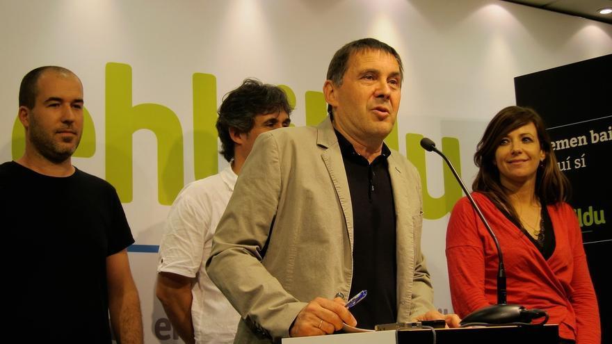 EH Bildu formaliza ante las Juntas Electorales sus listas, con Arnaldo Otegi como candidato a lehendakari