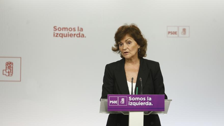 Carmen Calvo (PSOE) recuerda a las federaciones regionales que el modelo territorial ya lo decidió la Ejecutiva Federal