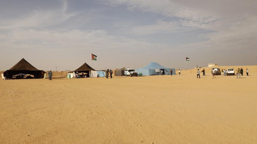 Campamento de refugiados saharauis de Auserd (Tinduf) donde se celebra el Fisáhara.