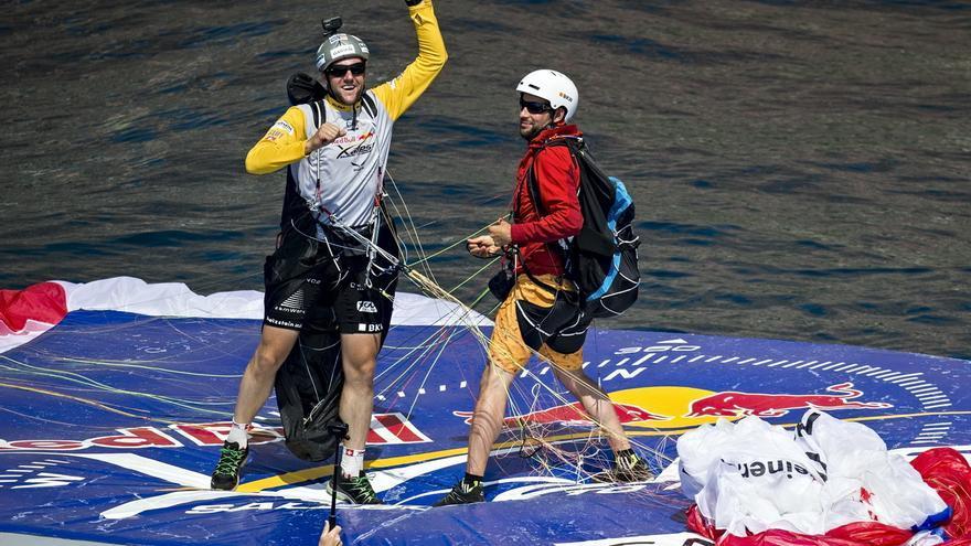 Christian Maurer a su llegada a Mónaco (© Sebastian Marko / Red Bull Content Pool).