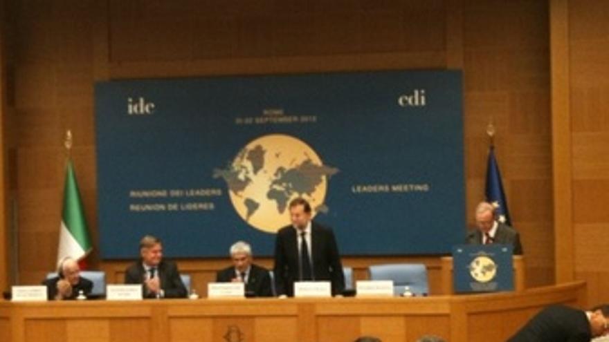 Rajoy En La Reunión De La IDC En Roma.