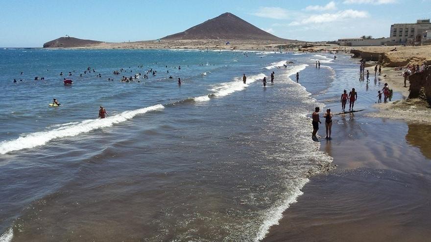 Vista general de la playa de El Médano, en Granadilla (Tenerife).