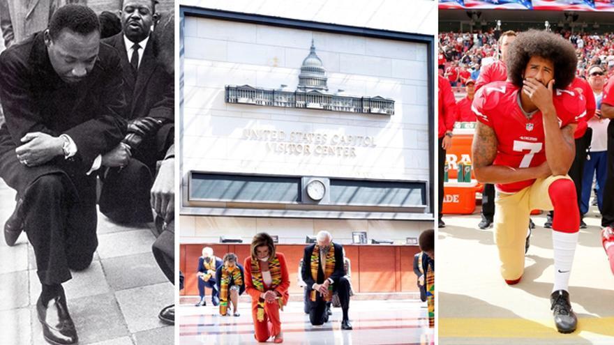 Hincar la rodilla frente al racismo: la historia del gesto que se viraliza tras la muerte de George Floyd