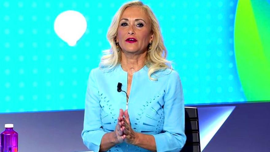 Cristina Cifuentes, en el plató de Todo es mentira