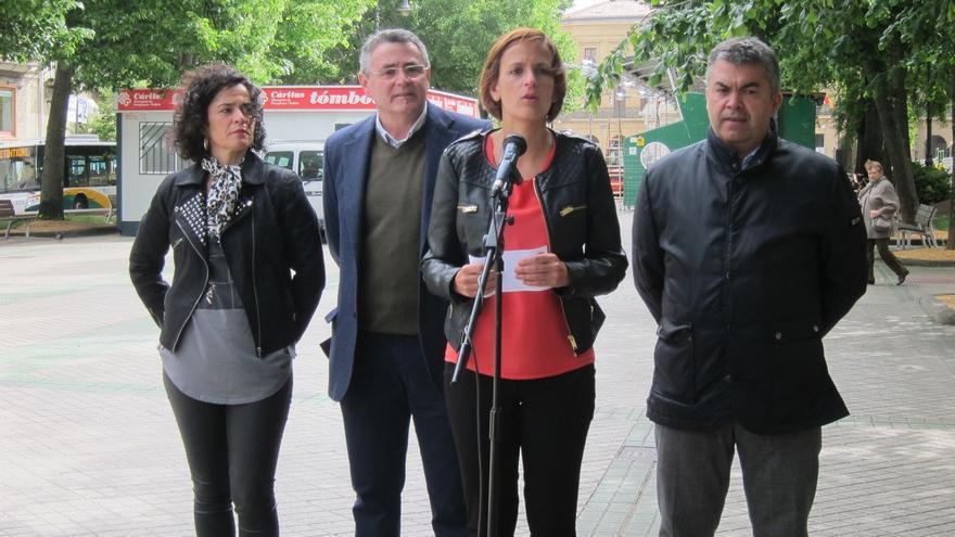 """María Chivite: """"Si alguien quiere darle una patada a Rajoy tiene que empezar por votar al PSN el próximo domingo"""""""