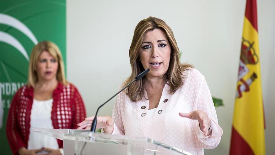 """Susana Díaz sobre el cese Baiget: """"Intentan disfrazar el 1-O de lo que no es"""""""