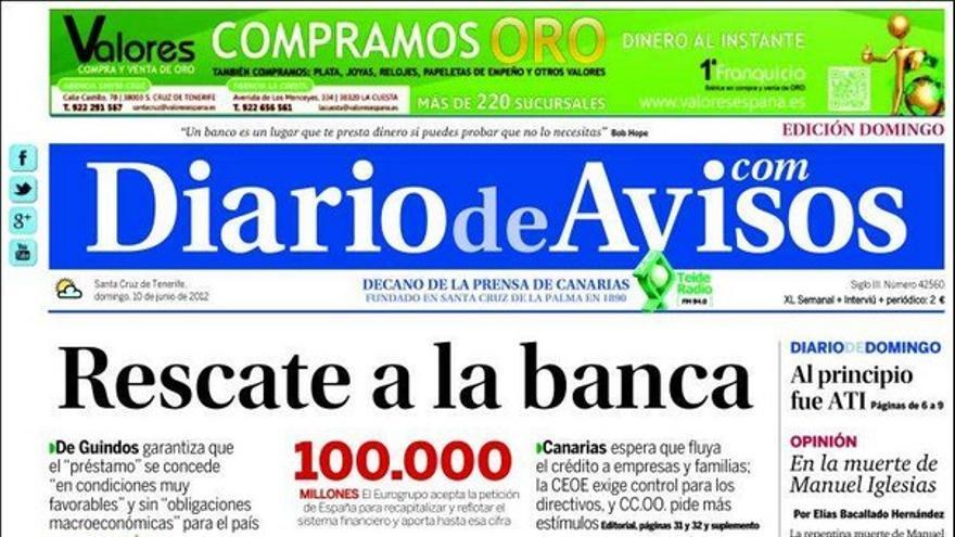 De las portadas del día (10/06/2012) #8