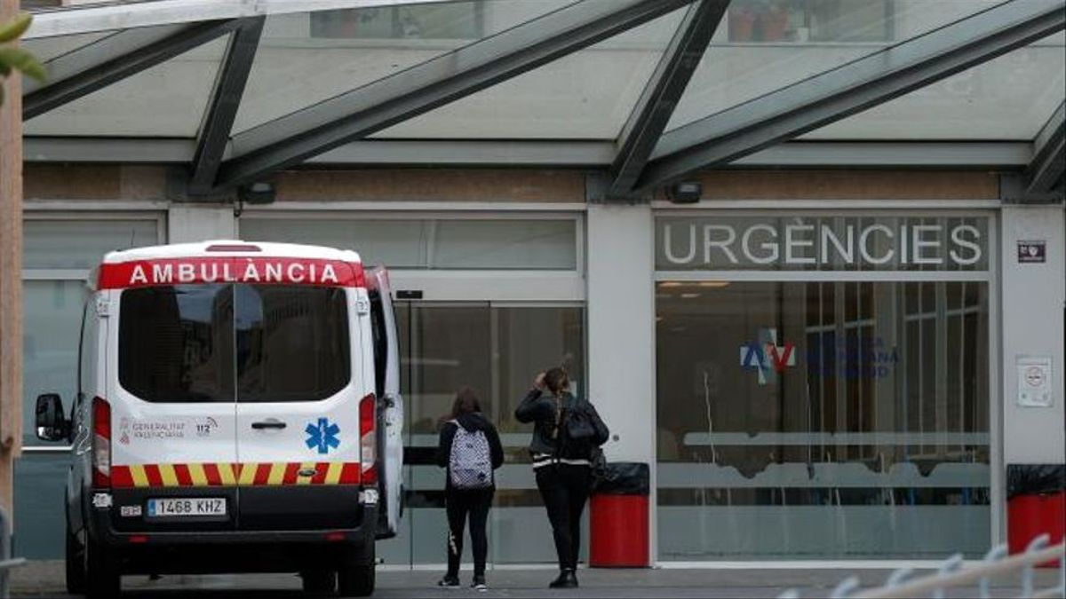 Entrada de urgencias del hospital Doctor Peset, en València.