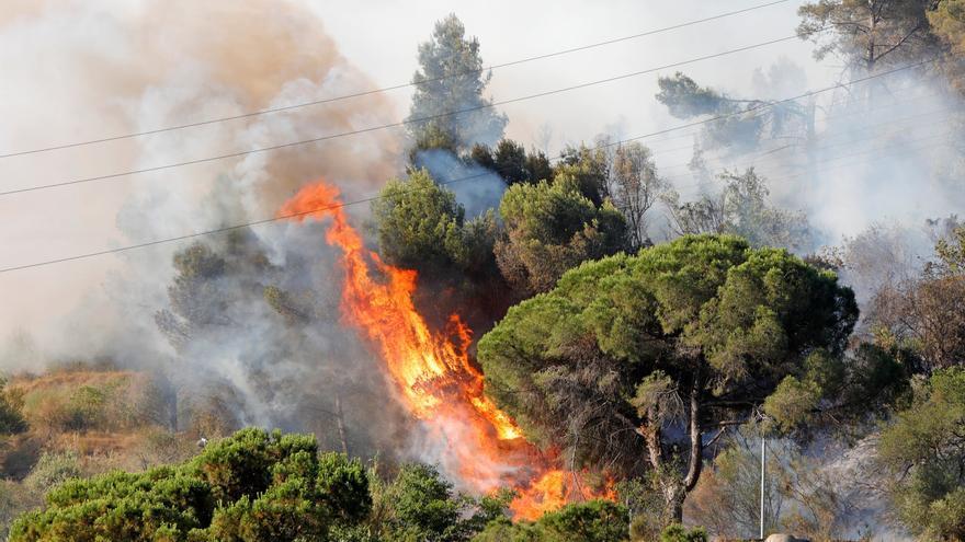 Estabilizan el 80% del perímetro del incendio de Castellví tras quemar 225 hectáreas