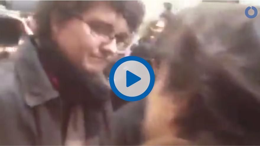Un reportero de Telemadrid increpa a Facu Díaz a la salida de la Audiencia Nacional