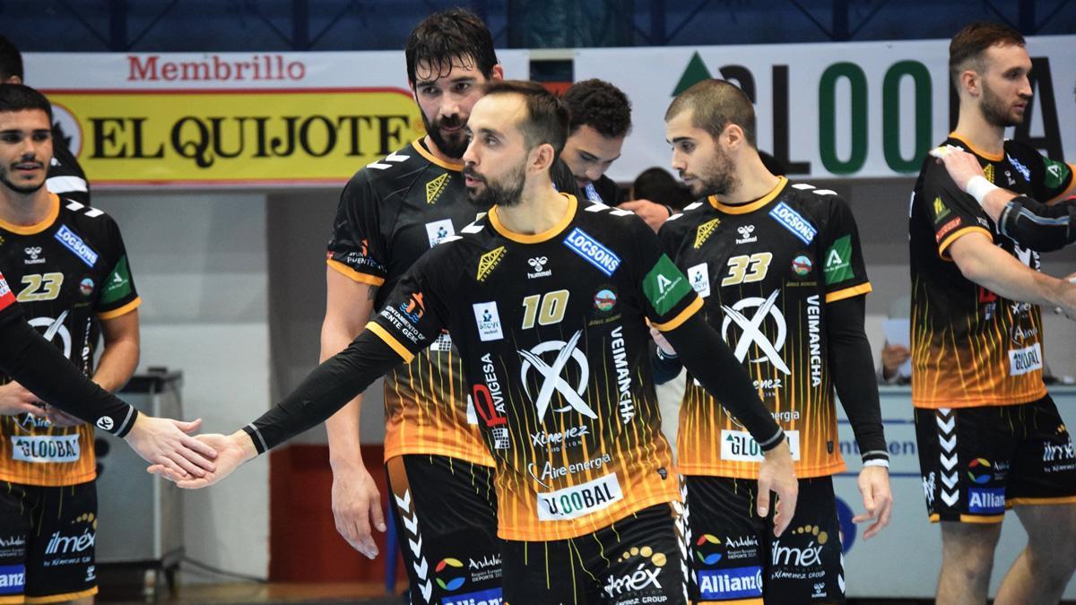 Jugadores del Ángel Ximénez en un partido.