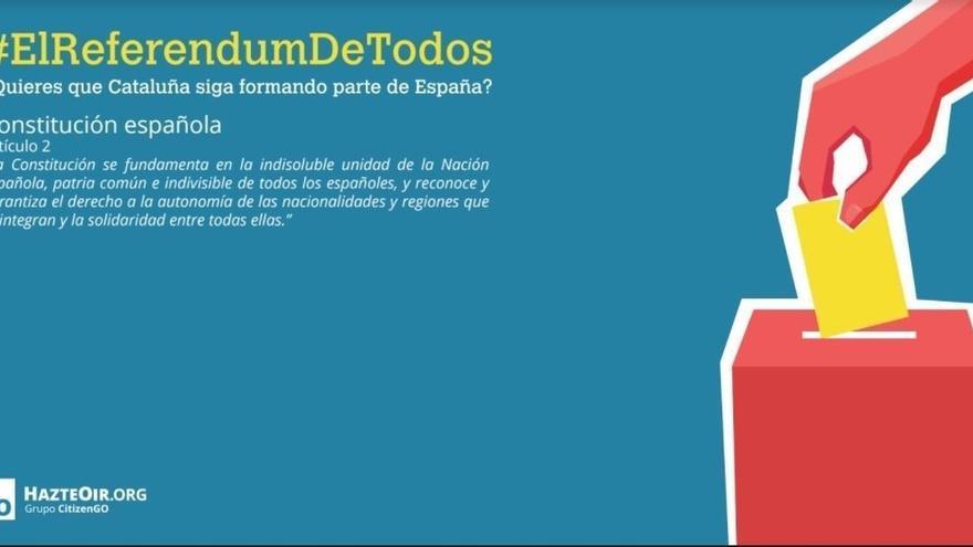 """HazteOir convoca una """"parodia"""" de consulta este viernes en Sol para que se vote a favor de la Constitución"""