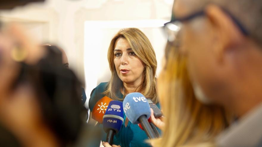 """Susana Díaz: """"Como parte del Estado, siempre estaré en la defensa del estado de derecho y de la legalidad"""""""