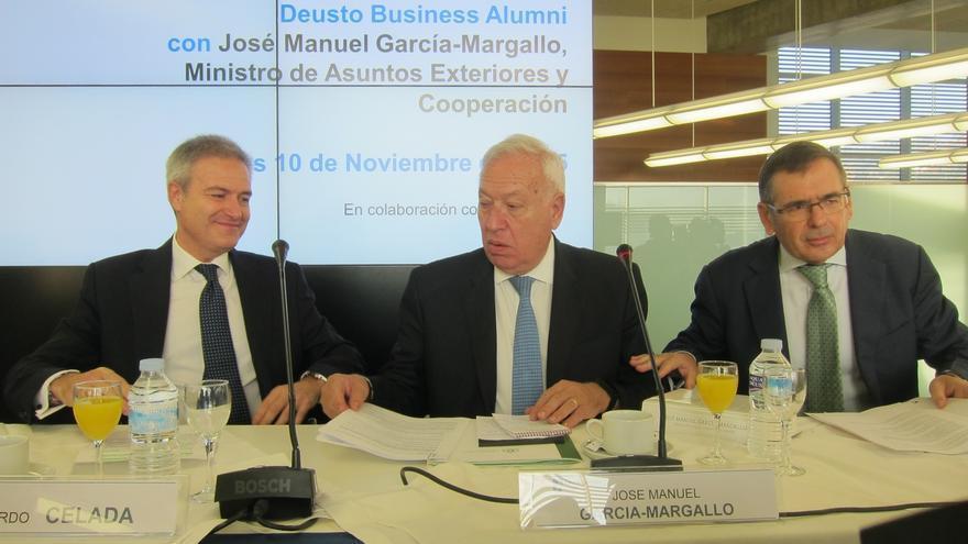 """Margallo no descarta la salida de Reino Unido de la UE en 2016 que lleve a la """"federalización"""" de los países del euro"""