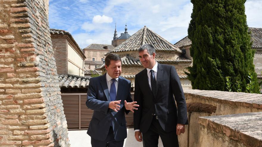 García-Page y Clavijo, hoy en el Palacio de Fuensalida (Toledo)