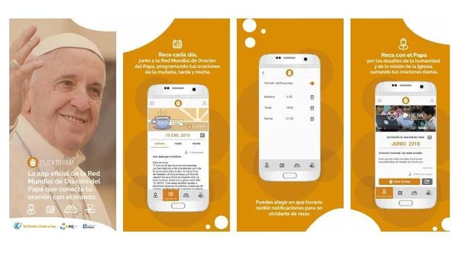"""Imagen de presentación de la aplicación """"Click to Pray"""""""