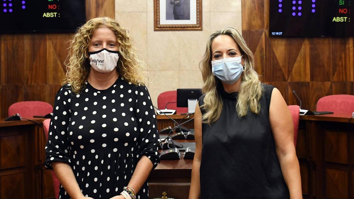 Raquel Díaz y Susana Machín.