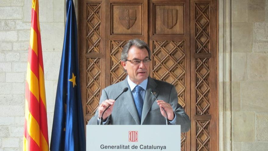 """Artur Mas celebra el éxito de la marcha y quiere """"dotar a Cataluña de estructuras de Estado"""""""