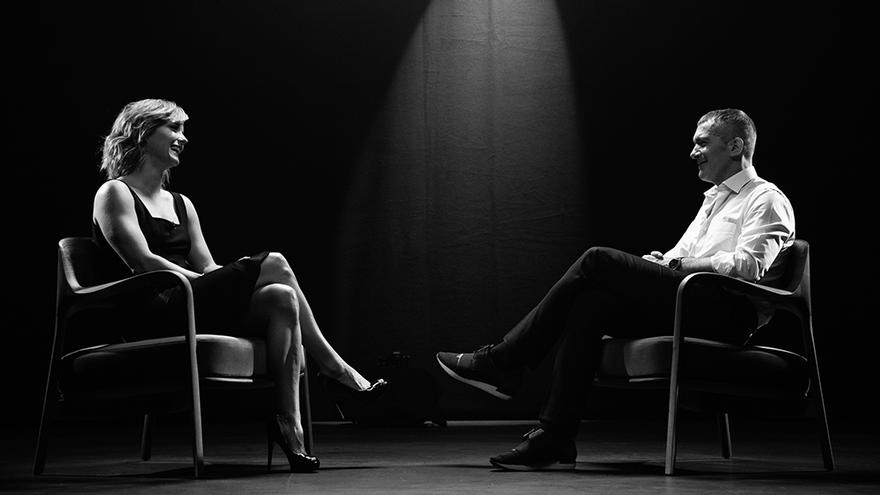 María Casado y Antonio Banderas, en 'Escenas en blanco y negro'