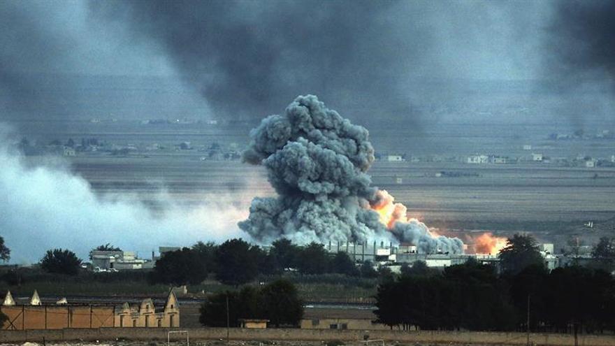 Mueren 55 milicianos del EI en bombardeo de Turquía el norte de Siria