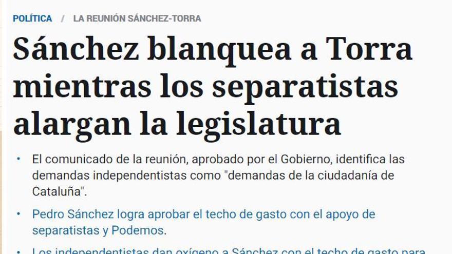 Noticia de El Español