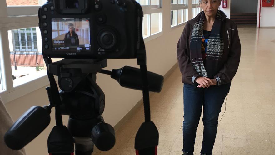 La activista dominicana Jenny Torres, durante una entrevista. Imagen de Júlia Girós.