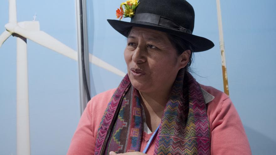 Melania Canales, representante indígena.