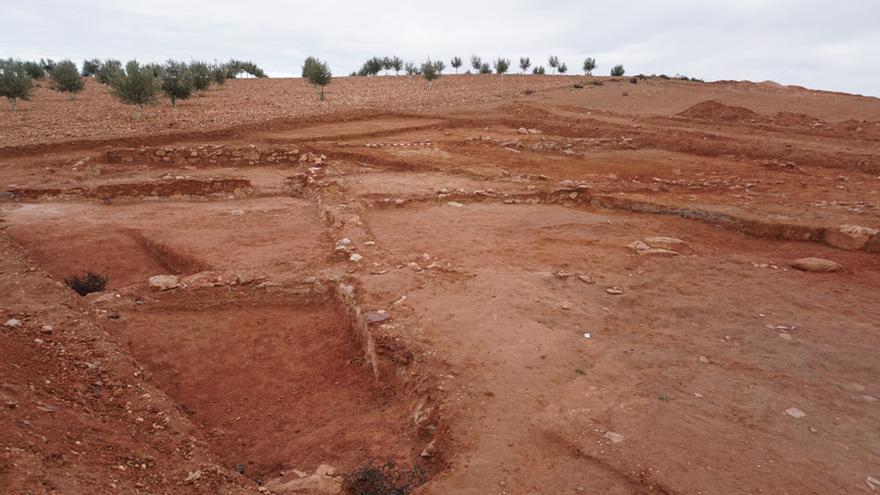 La villa romana del Cerro Molino II de Quero / Imagen cedida por el director de la excavación, Miguel Ángel Valero