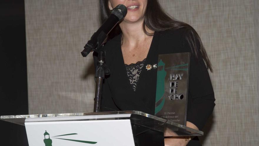 Macarena Olona, tras recibir el premio Hay Derecho