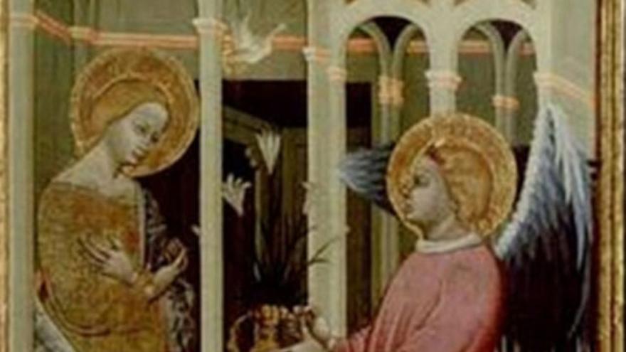 Escena del retablo de Santa Ana