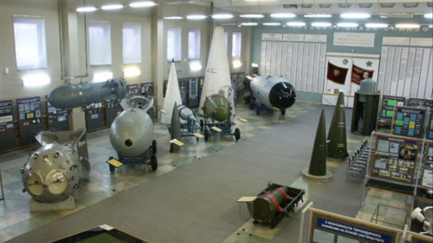 Imagen del museo del Centro Nuclear Federal en Sarov.