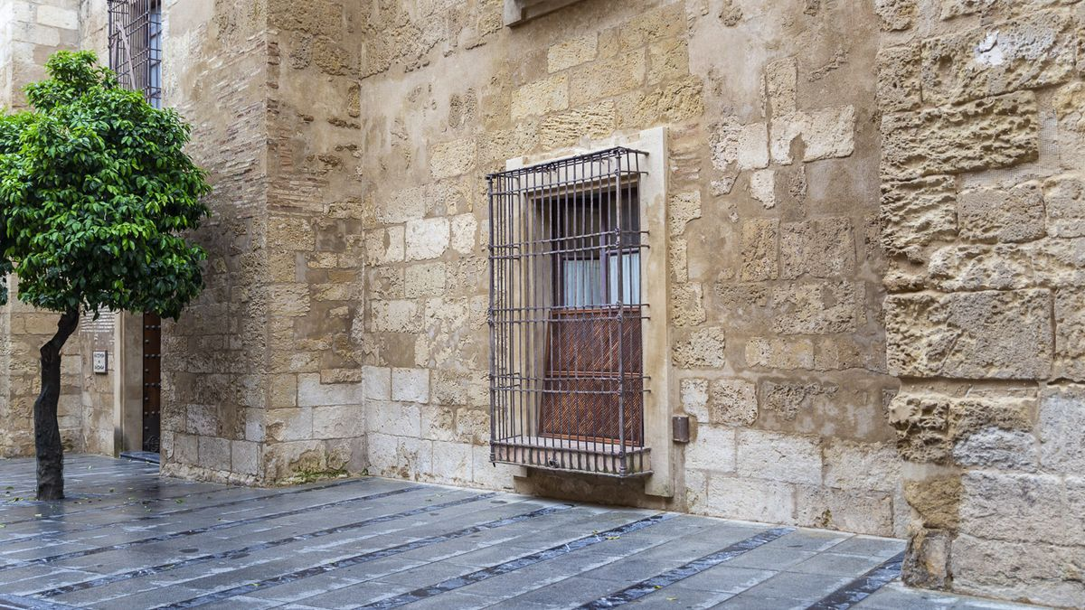 Actual ventana que se recuperará como puerta en el Palacio Episcopal