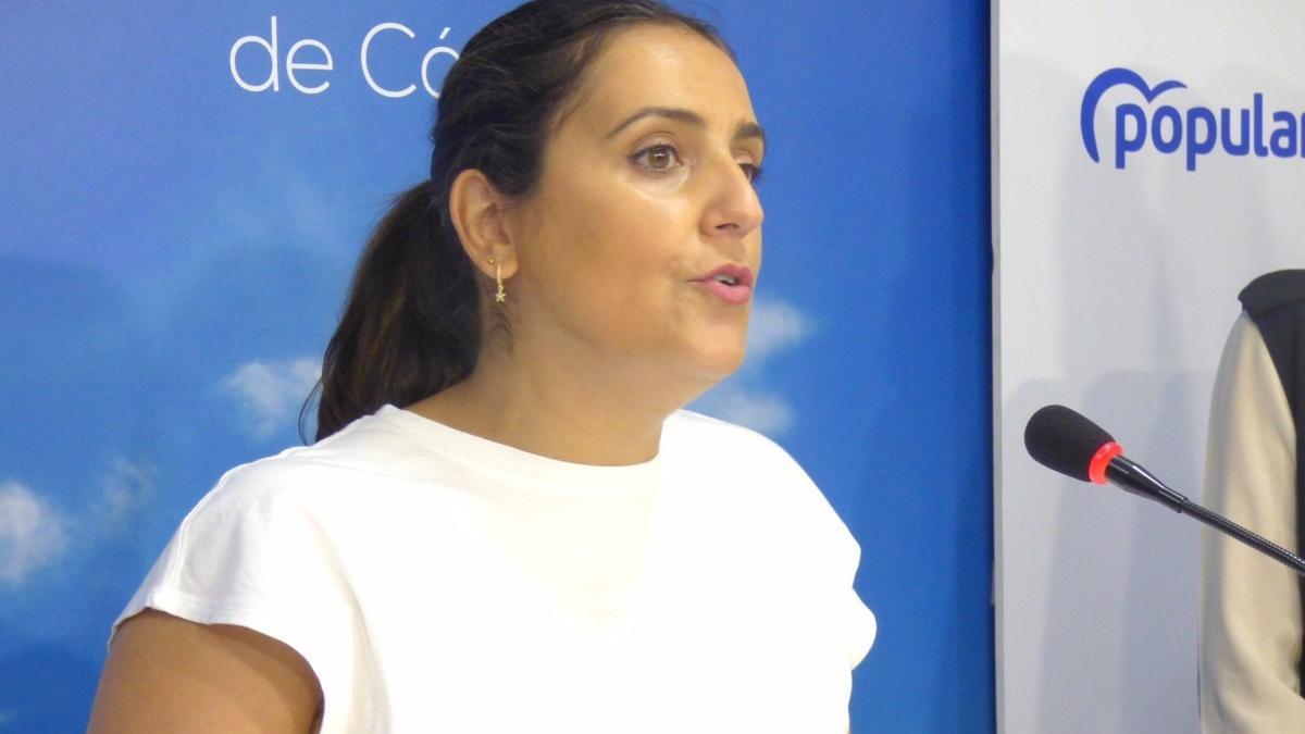 La parlamentaria andaluza del PP por Córdoba Beatriz Jurado, en la sede de su partido.