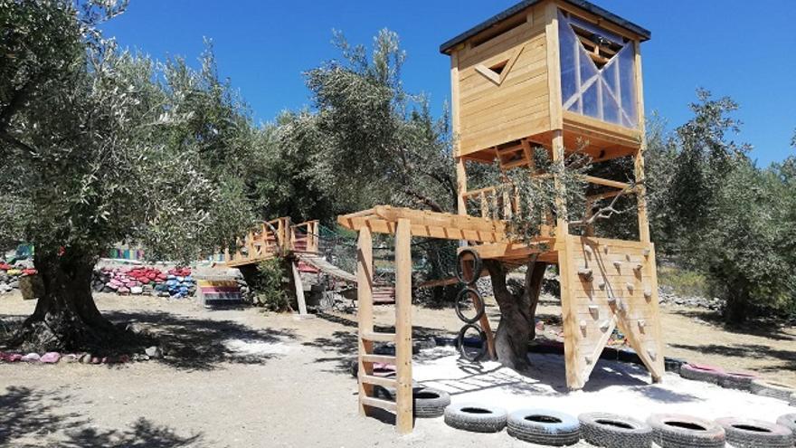 Instalaciones dispuestas para actividades con refugiados