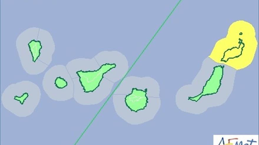 Mapa de la Aemet para este domingo.