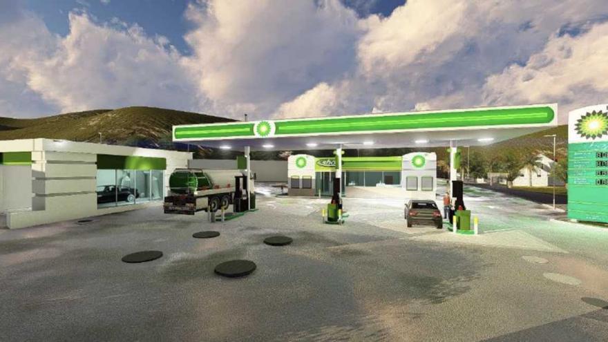 Infografía de la gasolinera proyectada en Tegueste a la que se opone el vecindario