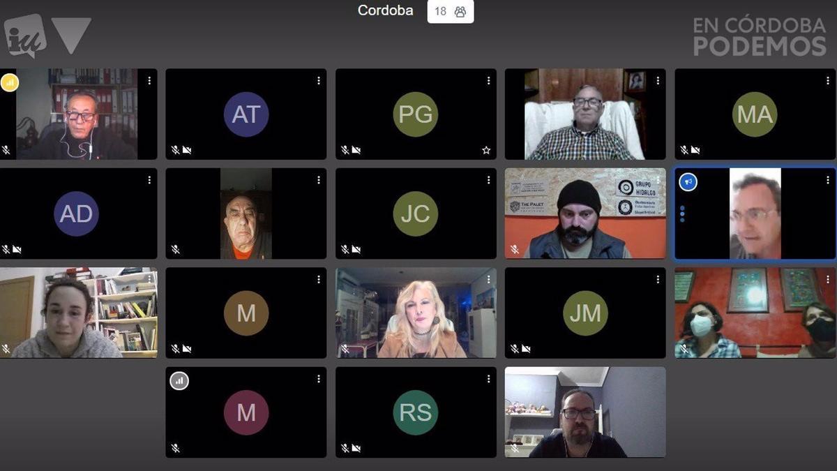 Reunión de IU y Podemos con el Consejo del Movimiento Ciudadano de Córdoba.