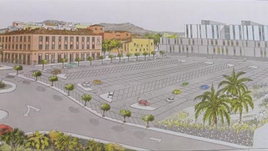 Imagen del proyecto del aparcamiento en superficie de Las Quinteras