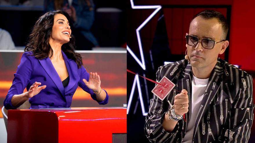 Pilar Rubio en 'El Desafío' / Risto Mejide en 'Got Talent'