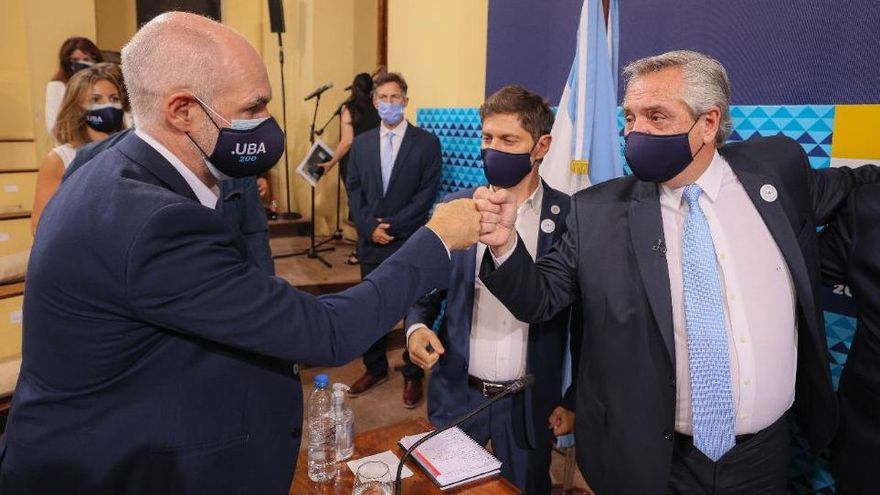 Fernández y Rodríguez Larreta se reúnen en Olivos para evaluar nuevas medidas ante aumento de casos