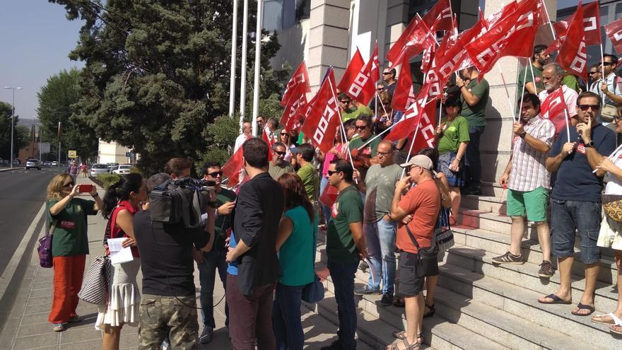 Concentración de Agentes Medioambientales en Toledo. FOTO: CCOO CLM