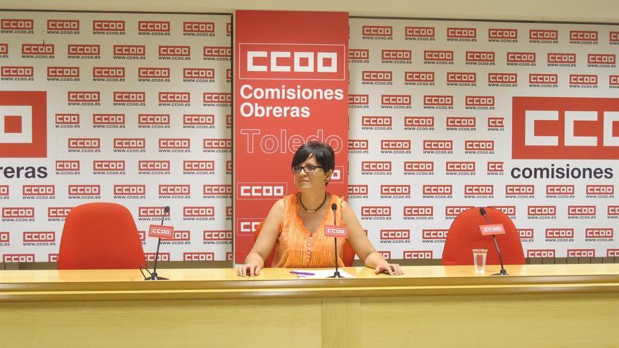 La secretaria de Empleo y Políticas Sociales de CCOO Castilla-La Mancha, María Ángeles Castellanos