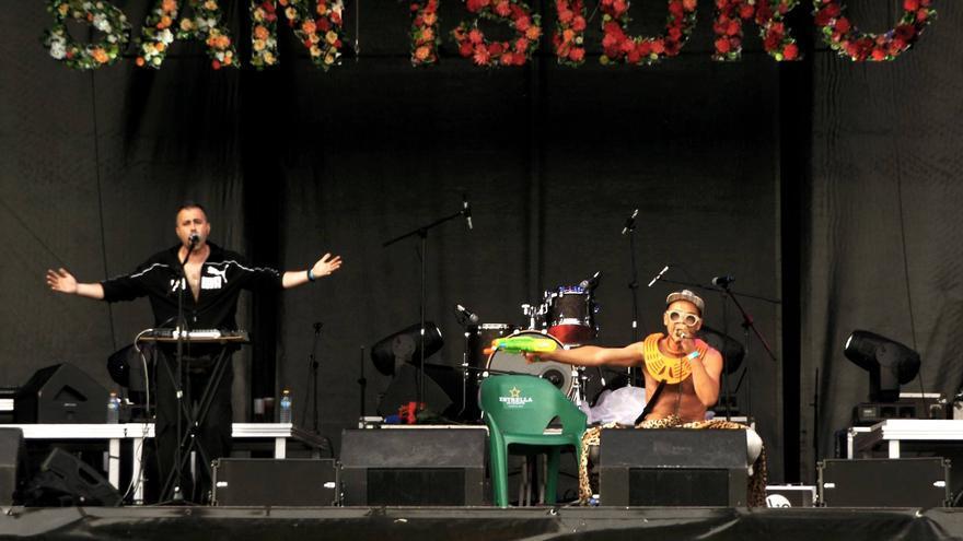 La banda catalana Émbolo en su actuación en San Isidro
