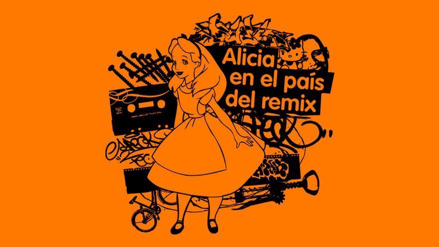 Alicia en el País de la Remezcla. Ilustración de Ricardo Barquín Molero.